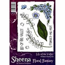 Sheena Douglass FLORAL FANTASY A5 Unmounted Stamps LILY OF THE  VALLEY