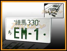 EM1 JDM JAPAN ALUMINUM UNIVERSAL LICENSE PLATE EM-1 96-00 HONDA CIVIC EM-1 SI