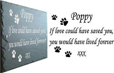 Pet Plaque ~ Paw Prints or silhouette of Dog ~ Cat ~ Parrot ~ Guinea Pig ~ Horse