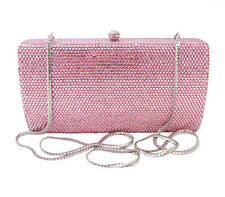 Anthony David Light Pink Crystal Clutch Evening Bag with Swarovski Crystals