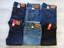 Levi´s Damen Bootcut Jeanshose 715 Mid Rise Jeans Stretch Hose Damenjeans