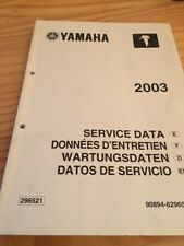 Yamaha moteur hors bord service data données entretien revue technique 2003
