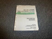 John Deere 425 445 455 Tractor Service Repair Technical Shop Manual TM1517