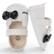 Infant Newborn Baby Girl Crib Shoes Soft Leather Prewalkers Anti-slip Moccasins