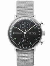 AUTHORIZED DEALER Junghans 027/4500.45 Max Bill Chronoscope Day/Date Watch