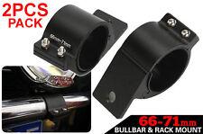 2pcs Bull Bar Mounting Lights UHF Antenna Bracket Clamp for Bullbar 66mm 2.5inch