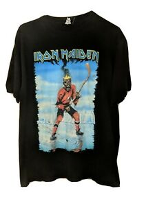 Iron Maiden Rare Canada Event Center Somewhere Back In Time Anvil Tag T-Shirt XL