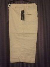 NWT Ambrosia Linen Capris Pants Beige/Tan Women's Large Size