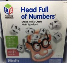 Learning Resources - Head Full Of Numbers Math Equations Game - LSP8408-T - NIB