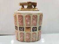 """VINTAGE Art Deco Working Cigarette Table Lighter / Ceramic  /  3"""" H  1761.39"""