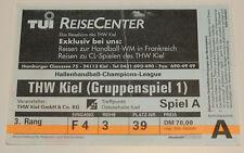 Ticket for collectors CL handball THW KIel Braga 2000 Germany Portugal