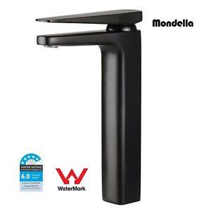 Long Neck Basin Sink Mixer Mondella Vivace Extended Matte Black 5 Star 6L/Min