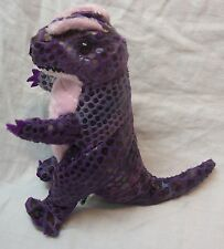 "Animal Planet PURPLE & BLACK DINOSAUR W/ SOUND 6"" Plush STUFFED ANIMAL Toy"