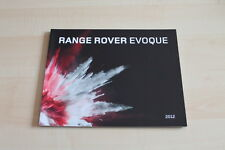 84905) Range Rover Evoque Brochure 08/2011
