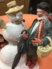 """Grandpa Snowman"" Norman Rockwell Danbury Mint 1980 Handcrafted Bisque Porcelain"