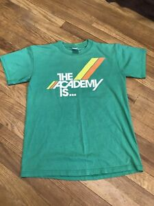 Vintage The Academy Is Tee Shirt Y2K 2000s Emo Screamo Indie Green Band shirt