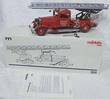 Märklin 1991 speciaal MHI Metall brandweerwagen uitschuifbare ladder super !