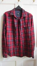 CLASSIC **BURTON** BLOGGERS GLAM ROCK RED TARTAN CHECK COTTON SHIRT SIZE S/M
