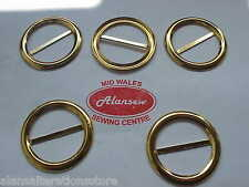 """5 of 1-1/2"""" High Fashion Gold Effect Top Fashion Belt Buckles"""