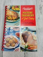 VTG 1959 Rawleighs Picture Treasury Of Good Cooking Cookbook Spiral RECIPES