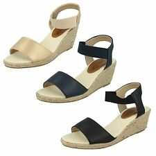 Wedge Spot On Textile Shoes for Women
