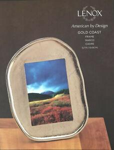 NIB LENOX American Bay Design Gold Coast Frame 5x7 MSRP $84