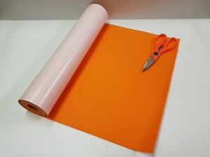 5 Mtr x 450mm wide roll of ORANGE STICKY BACK SELF ADHESIVE FELT / BAIZE