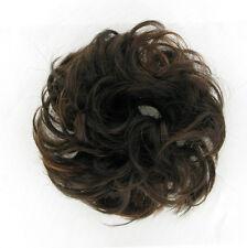Haargummi Scrunchie Haarteil Haarverdichtung Schokolade Poly Mesh Kupfer 17 6h30