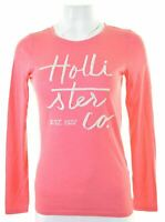 HOLLISTER Womens Top Long Sleeve Size 10 Small Pink Cotton  MJ14