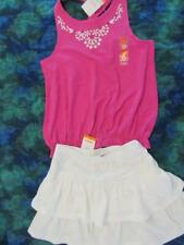 NWT 8 Gymboree Desert Dreams Magenta Rhinestone Tank Top White Knit Skirt