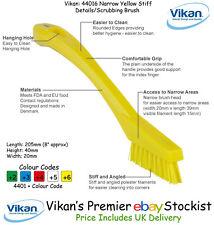 Vikan 44016 Stiff Detail Brush Upholstery Fabric Carpet Kitchen Pet Hairs Yellow