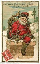 Magnifique Père Noël gaufré . Poupée. Doll . Nice Santa Claus  .Christmas .