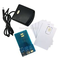 LTE 4G WCDMA SIM USIM Secure Card Reader Writer programmer with 5 LTE Blank USIM
