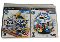 Lot of 2 PS3 uDraw Studio Instant Artist & Pictionary Ultimate Edition Complete