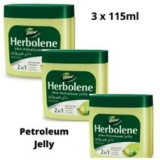 3x Dabur Herbolene Aloe Petroleum Jelly 115ml | Nourish & Protect 3x115ml 345ml