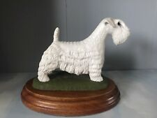 More details for bollingate country artists sealyham terrier dog white ornament figurine fine art