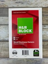 NEW H&R Block Premium Small Business Owners 2018 Tax Software - Federal State