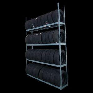 Reifenregal.Verstellbar (L x B x H) 2337mm x 416 x 3048. Tragf.227 kg pro Ebene