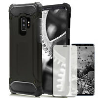 Hard Cover+Tempered Glass for Samsung Galaxy S9 Hybrid Mobile Case Silicon TPU
