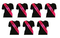 HOT PINK HEN PARTY SASHES HEN NIGHT PARTY DO ACCESSORIES BRIDE TO BE BRIDESMAID