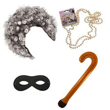Gangster Gran Granny OAP Book Week School 4 PIECE Fun Fancy Dress Gangsta Set