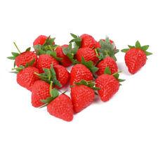 10x Artificial Strawberries Fruit Plastic Decorative Faux Fake Fruit Home Decor