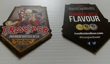 2 Robinsons Trooper Iron Maiden Beer  Mats *NEW* double sided