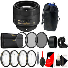 Nikon AF-S NIKKOR 85mm f/1.8G Lens + 67mm UV CPL ND Lens Accessory Kit