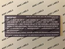 Back Label Model 1 Super Nintendo SNES Cartridge Replacement Game Label Die Cut