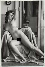 Nude Lingers On Chair (Vintage Photo PC Ludwig Geier ~1930s/1940s)