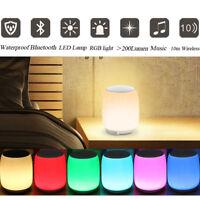 Wireless Speaker Stereo LED bluetooth Portable Touch Night Light Alarm   RF