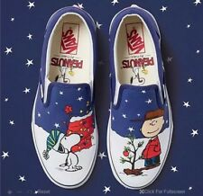 NEW Vans x Peanuts Limited Edition Snoopy & A Charlie Brown Christmas Tree Sz 13