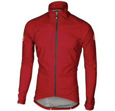 Brand NEW Size XL Castelli Emergency Rain and Wind Cycling Jacket Yellow Fluo