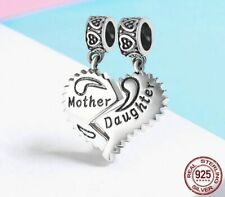 Mother and Daughter Charm Bead 925 Sterling Silver Mothers Day Mum gift